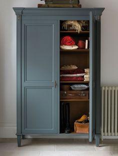 The Nathalie Wardrobe painted dark grey | And So To Bed http://bit.ly/Nathalie_Painted_Wardrobe