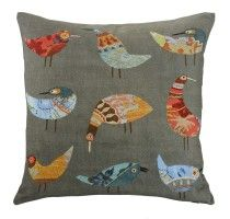 Love our Birds cushion! 50x50cm with colourful and quirky Bird print. #linenandmoore #decor #inspiration #bestseller