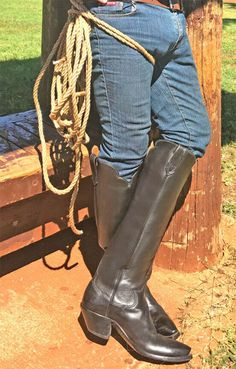 """[Source: Islander Boots]"""" A pair of mine out for sale. Custom Cowboy Boots, Western Boots, Cowboy Western, Tall Leather Boots, Tall Boots, Mens High Boots, Buckaroo Boots, Men In Tight Pants, Hot Country Boys"""
