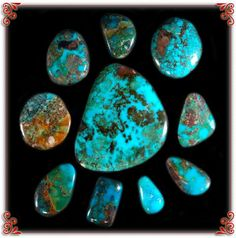 This is some of the most famous Turquoise on earth! - Bisbee Turquoise! This photo will lead you to the Bisbee Turquoise Website along with links where you can purchase Bisbee Turquoise and Bisbee Turquoise produced by Durango Silver Company of Durango, Colorado USA