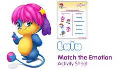 Lulu Match the emotion - Free Fun Party Popples Printables and Activities   SKGaleana