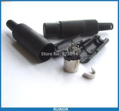 [Visit to Buy] 5 pcs 6 Pin Mini DIN Female Jack plug Cables Connector Plastic Handle Soldering #Advertisement
