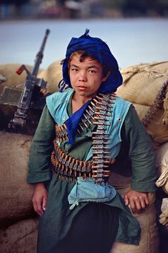 No hope, no future. This image is of a young Hazara soldier in Kabul, Afghanistan.