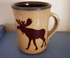 Monroe Salt Works Mug Stoneware Made in Maine Moose Design | eBay