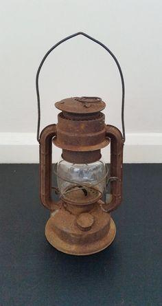 Vintage oil lantern, hanging lamp, old kerosene light, rustic paraffin lantern…