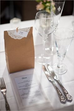 a super sweet place setting idea for your guests, check out more here http://www.weddingchicks.com/2013/08/30/modern-chic-wedding/