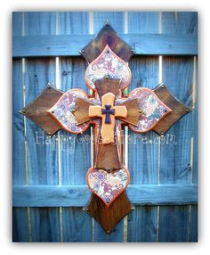 Wall CROSS - Wood Cross X-LARGE wooden wall CROSS in antiqued stain, with bronze paisley design. * measures 36 x 28 (size is approximate) * light protective clear coat * comes ready to hang ~~~~~~~~~~Please note:~~~~~~~~~~~~~~~~~~~~~~~~~~~~~~ Abstract Coloring Pages, Flower Coloring Pages, Mandala Coloring Pages, Mosaic Crosses, Wood Crosses, Crosses Decor, Paisley Design, Paisley Print, Repurposed Wood Projects