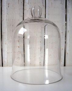 Gläser - Glasglocke, french, shabby, Cloche, Glashaube - ein Designerstück von Alleswirdgut--- bei DaWanda