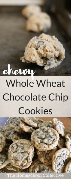 Chewy Whole Wheat Chocolate Chip Cookies - Healthy Chocolate Recipes Healthy Chocolate Chip Cookies, Homemade Chocolate, Chocolate Chips, Chocolate Hair, Mint Chocolate, Chocolate Recipes, Whole Wheat Cookies, Whole Wheat Flour, Cookie Recipes