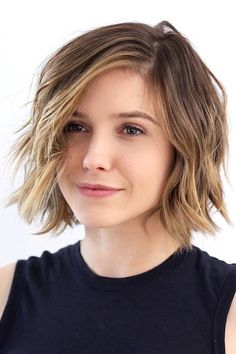 Actress Sophia Bush's choppy bob is the perfect way to test out a shorter 'do if you're used to long hair, since it's just long enough to pull back. (You can find all the details on this cut here!) #refinery29 http://www.refinery29.com/cool-short-haircut-pictures#slide-1