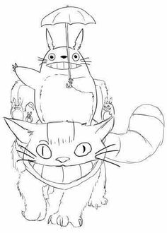 Totoro coloring pages to download and print for free DESENHOS E