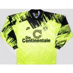 1993-94 Dortmund L S Home Shirt Vintage Football Shirts e28702a355caf