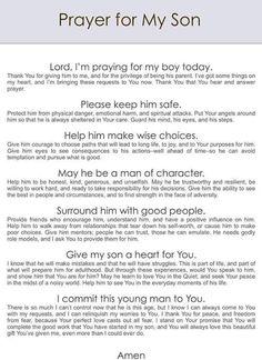 Prayer for son Prayer For Our Children, Prayer For Son, Prayer For Guidance, Prayer For Family, Faith Prayer, Power Of Prayer, Prayer For Baby Boy, Parents Prayer, Prayer For Students