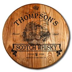 Northwest Gifts - Scotch Whisky Barrel Head Plaque Personalized, $140.00 (http://northwestgifts.com/scotch-whisky-barrel-head-plaque-personalized/)