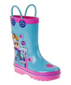 Look what I found on #zulily! Light Blue & Pink PAW Patrol Rain Boots - Kids by PAW Patrol #zulilyfinds