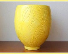 vaso de cerâmica - Amarelo