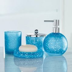 Style At Home 'Sparkle' Bath Coordinates Covered Jar