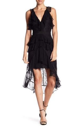 Haute Hippie In The Name of Love Lace Ruffle Dress