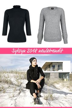 Etsitkö syksyn trendejä? Neuleissa kiinnostavat näyttävät yksityiskohdat! Vermont, Amy, Turtle Neck, Sweaters, Movies, Fashion, Moda, Films, Fashion Styles