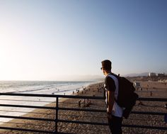 Head to the Santa Monica Pier and you'll find gorgeous views for photo ops. Way Down, Free Things To Do, Bike Trails, Venice Beach, Public Transport, Santa Monica, Railroad Tracks, Travel Guide, Coastal
