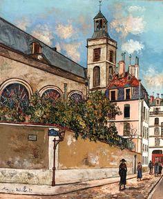 Maurice Utrillo, Eglise Notre-Dame des Blancs-Manteaux à Paris