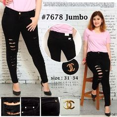 """""Celana jeans ripped jumbo chanel 7678 Material: soft jeans Harga: 150 Warna: hitam Order PIN 5A1F32FA & SMS/WA 087722-575-101  Reseller & Dropship Welcome!  Happy Shopping! :) #jamtangan #jamtanganwanita #jammurah #grosirjam #grosirbandung #jamcewek #jamtangancewek #jambandung #jamtanganterbaru #resellerjamtangan #grosirjamtangan #grosirjamtanganwanita #suplierjamtangan #jamtanganartis #olshop #jamfashion #jamoriginal #resellerwelcome #sepatu #celanajeans #sepatubandung"