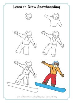 Learn to draw Olympic Winter Sports (lots of different sports/pages)