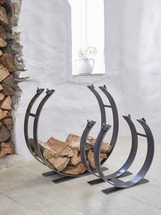 Artisan Wrought Iron Log Ring #nordic #house #scandi #home #interior #decor #wroughtiron #fireside