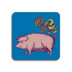 Avenida Home Puddin' Head Pig Coaster