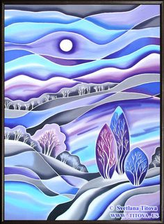 Hey, I found this really awesome Etsy listing at https://www.etsy.com/listing/216042662/winter-sleep-original-silk-painting-by