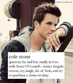 Cole Stone from The Bad Boy's Girl on wattpad