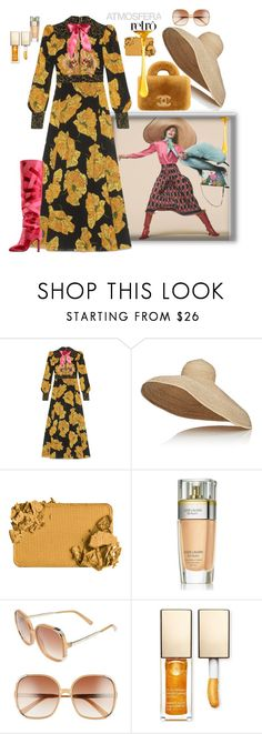 """""""Honey Crunch"""" by juliabachmann ❤ liked on Polyvore featuring Gucci, Lola, Estée Lauder, Chloé and Clarins"""
