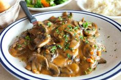 "6 minutes to skinny - Baked Smothered Golden Mushroom Pork Chops Recipe - 15 Minute Prep Time - Watch this Unusual Presentation for the Amazing to Skinny"" Secret of a California Working Mom Pork Chop Recipes, Meat Recipes, Crockpot Recipes, Chicken Recipes, Cooking Recipes, Recipe Chicken, Healthy Chicken, Chicken Freezer, Dump Chicken"