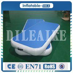 Precio de fábrica del envío libre 2X1x0.2m pista inflable azul inflable de la estera del aire de la gimnasia de la pista del aire para los cabritos y los adultos