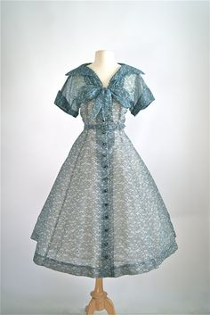 Vintage 1950s Dress  50s Volup Full Skirted Party by xtabayvintage
