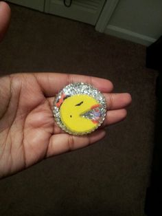 Pacman Necklace Charm I created using my Own stickers