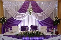 white Wedding backdrop with grape purple swags 10 ft Tall x … – Wedding Suite Wedding Stage Decorations, Backdrop Decorations, Backdrop Wedding, Backdrop Ideas, Purple Swag, Wedding Background, Backdrops For Parties, Event Decor, Trendy Wedding
