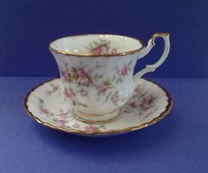 Royal Albert Victoriana Rose(Paragon) Bone China England Teacup and Saucer by Whitepearlfinds on Etsy