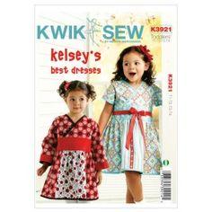 Kwik Sew Pattern 3921- Toddlers Dresses