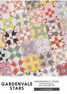 A great one block pattern that can look incredibly different depending on your color value placement. The finished quilt measures 60 inches by 70 inches.