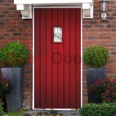 Lifestyle Image of Chancery Composite Door with Decorative Glass