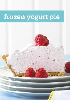 Frozen Yogurt Pie — This refreshingly easy dessert recipe can be prepared using peach, raspberry, cherry, strawberry, and lime or lemon yogurt. They are all equally delicious.
