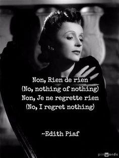 Edith Piaf Non Rien De Rien