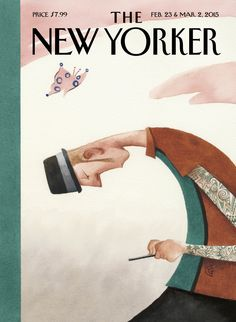 "The New Yorker - Monday, February 23, 2015 - Issue # 4581 - Vol. 91 - N° 2 - « 90th Anniversary Issue » - Cover ""Nine for Ninety - Three"" by Carter Goodrich"