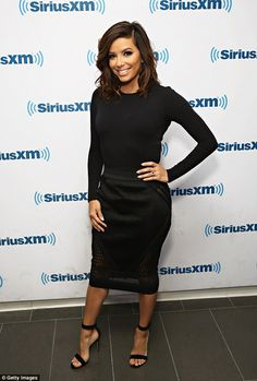 Designer boost:She did pair her all-black with Gianvito Rossi strappy black suede heels w...