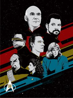 Star Trek Bye Bye Robot Releases TNG 25th Anniversary Litho