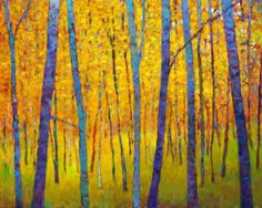 Commissioned work: Autumn Verticals Oil on canvas, 32 x 40 inches Private collection, Seattle, WA...