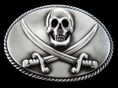 8f015565e2fc Boucle de Ceintures Pirates Caribbean Sea Skull Head Cross Swords Belt  Buckle   eBay Skull Belt