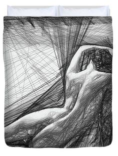 Female Pose For Studio Drawing 1463 Duvet Cover by Rafael Salazar