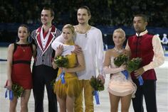 Pairs Podium 2014 Olympics Russia - Gold, Russia - Silver, Germany - Bronze